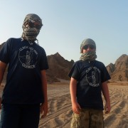 Sand buggies in the Sinai desert
