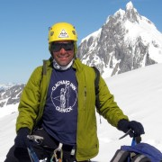 Bruce Cassels in the Mount Waddington Range, British Columbia, July 2012
