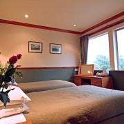 A typical bedroom in the Bidean Wing at Clachaig Inn, Glencoe