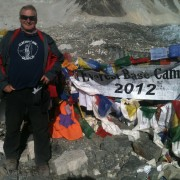 David Crumless at Everest base camp