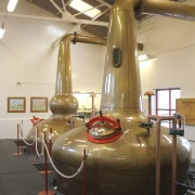 Stills at Benromach Distillery
