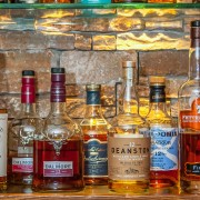 Just one of the whisky shelves at Clachaig