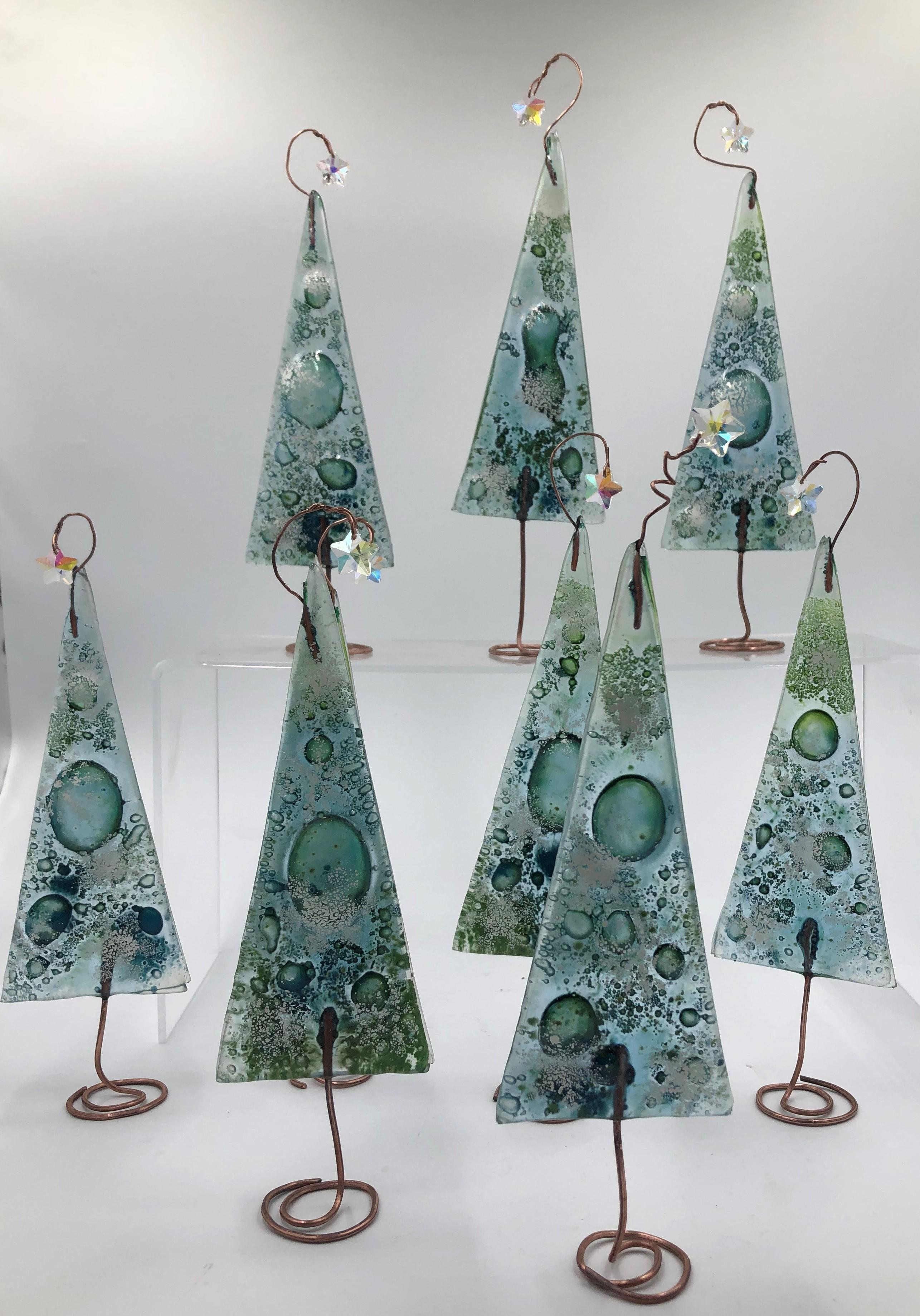 Fused glass Christmas Tree product image